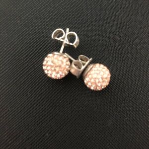 Sparkle Ball Earrings Rose Gold 12mm NWOT